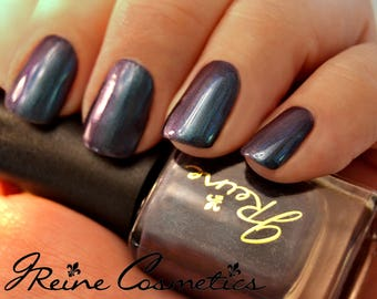 Bourre (Discontinuing) - Blue Purple Burgundy Teal Duochrome Color Shifting Nail Polish