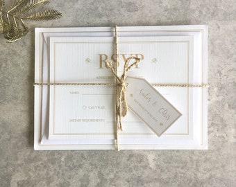 Golden Leaf - Wedding Invitation Bundles