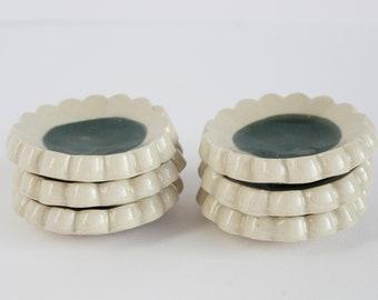 Set of 6 small wasabi plates
