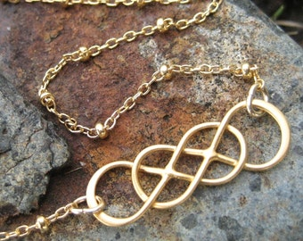 Always and Forever Double Infinity Necklace - Gold