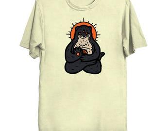 Spirit Animal Otter Ringspun cotton T-shirt, multiple color options available