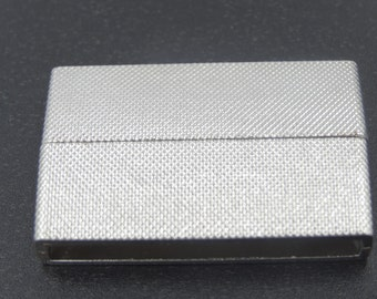 Wide Magnetic Bar Clasp 40x24mm  Silver