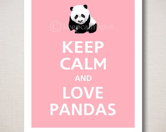 Keep Calm and LOVE PANDAS Animal Print
