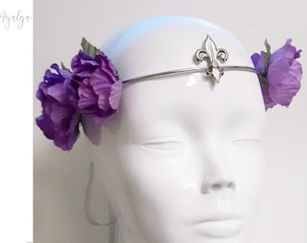 romantic floral crown- statement jewelry