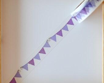 "Masking tape - pattern ""Pennant banner -"" - 1.5 cm x 10 m"