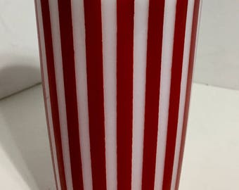 Vintage Hazel Atlas Red Stripe Tumbler Glass