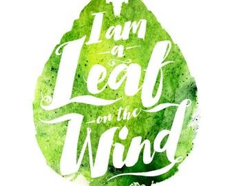 I am a Leaf on the Wind T-shirt - Firefly Serenity Browncoat fan tshirt