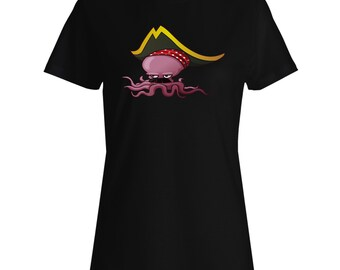 New Pirate Octopus Design Ladies T-shirt h526f