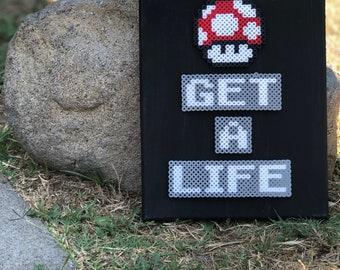 Get A Life Canvas
