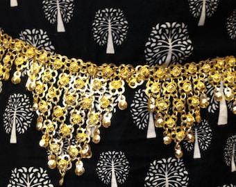 Stunning Belly Dance Waist Belt/ Chain, Gold Tone, Professional Handmade, Fashion accessory, Gift idea