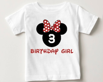 Personalized Birthday T-Shirt - Personalized Disney Inspired Shirt - Minnie Mouse Inspired Birthday Party - Minnie Mouse Inspired T-Shirt
