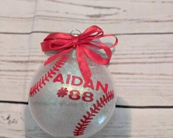 baseball ornament/ baseball Christmas/ sports ornament/ sports gift/ personalized baseball gift/ baseball decor