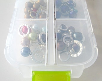 Snap 'n Go Notions Case - On-The-Go Storage Accessory for Knitters and Crocheters - Lime Green