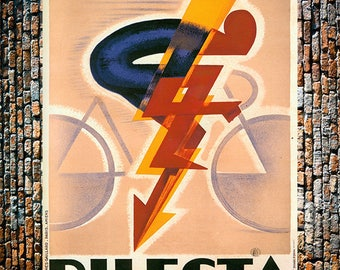 Cycles Dilecta Vintage Bicycle Racing Ad, Cycling Ad, Vintage Bicycle Ad, Vintage Art, Sports Ad, Giclee Art Print, fine Art Reproduction