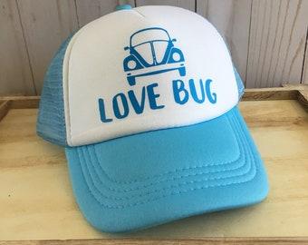 Toddler/ kid Love Bug Trucker Hat