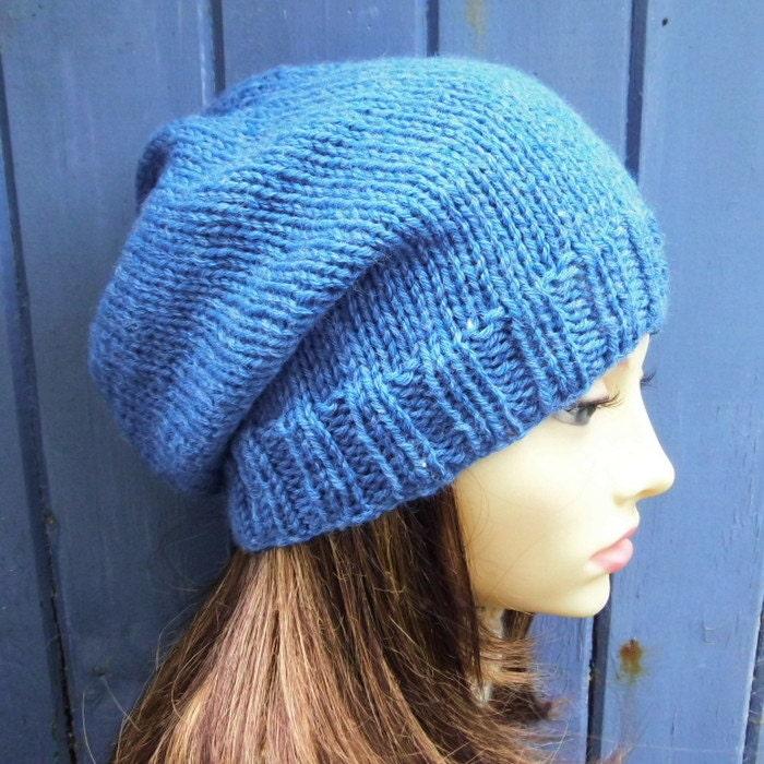 Womens Slouch Beanie Pattern Easy Slouch Hat KNITTING PATTERN Knit ...