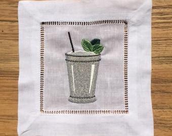 Mint Julep Cup Cocktail Napkin Set