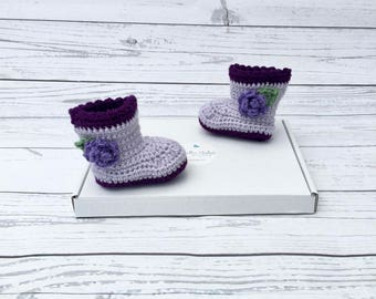 crochet baby boots | baby girl booties | baby girl shoes | coming home outfit | baby photo prop