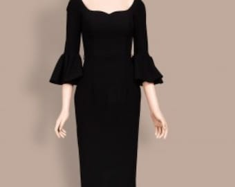 Pauline new pencil dress made to measure ALL SIZES classic
