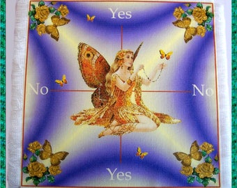 Gold Fairy Scrying Mat, Dowsing wiccan Magic Divination, fairy gift