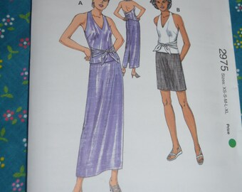 Kwik Sew 2975  Misses Tops and Skirt Sewing Pattern - UNCUT - Sizes XS S M L XL