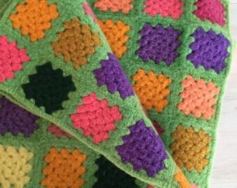 Vintage granny square blanket