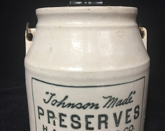 Antique H.A. Johnson & Co. of Boston Crock, early 1800s