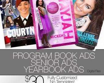 Pageant Ad, YearBook Ad