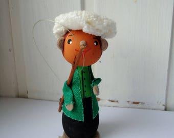 VINTAGE Fisherman figurine