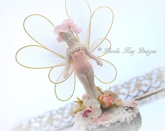 Tiny Fairy Faerie Girl Jewelry Box Doll One-of-a-Kind Miniature Ring Box Lorelie Kay Original