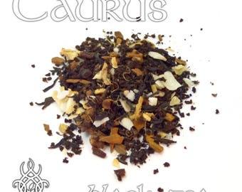 Taurus Loose Leaf Tea - loose leaf black tea, coconut chai, star sign, Zodiac sign Taurus, astrology tea, birthday gift, star sign