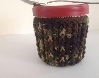 Ice Cream Cozy - Crochet Cozy - Camophlage