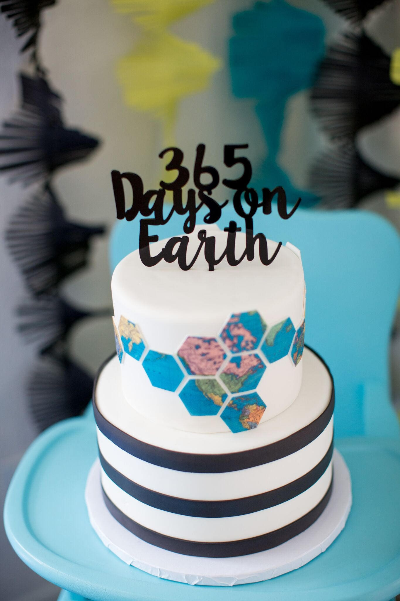 365 Days On Earthbirthday Cake Topper Personalized Birthday Topper