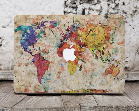 map world map decal laptop decals macbook pro reina 15 skin