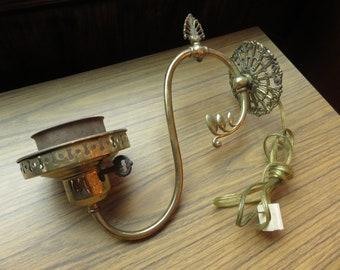 Vintage Brass Hollywood Regency Glam Wall Sconce Light Lamp