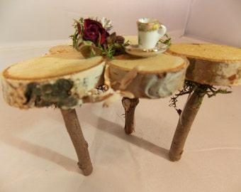 Fairy Garden Table Natural Fairy Twig Table~Fairy Moss Chair~-Fairy Garden Furniture