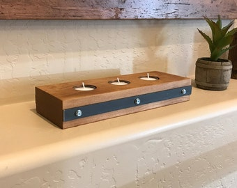 Industrial Tea Light Candle Holder