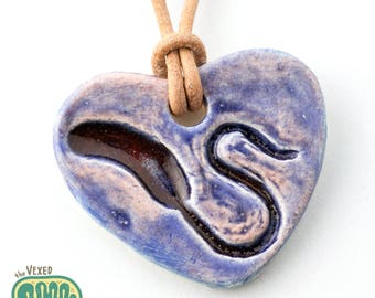Microbiology pendant necklace, Vibrio cholerae bacteria science jewellery