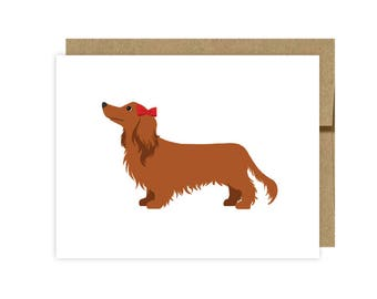 Set of 10 Dachshund Note Cards