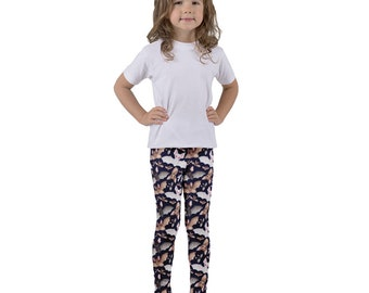 Batty For Bats! Kid's leggings- Midnight Blue
