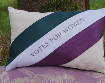 Votes for Women: Womens Suffrage Inspired Miniature Pillow