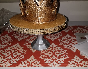 Metal gold crown  3.5 inches tall