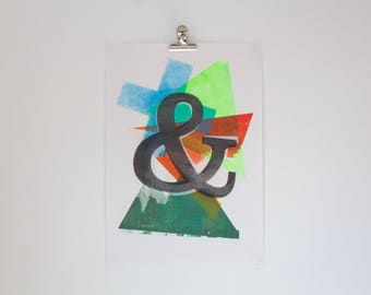 04 & - - Screen Print by the Cledford