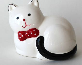 Vintage Giftcraft Kitty Cat Bank Ceramic