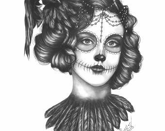 Giclée 'Queen of Ravens' - Giclée Print by Layce.