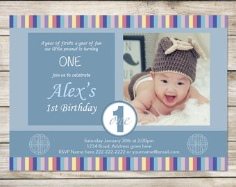 Korean First Birthday Invitation | Alex Series | Printable