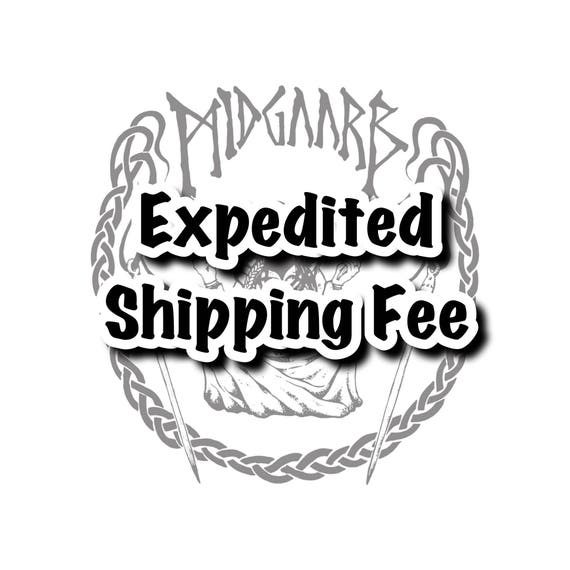 Expedited Shipping Fee! This is only to be purchased AFTER conversing with me about expedited shipping options!