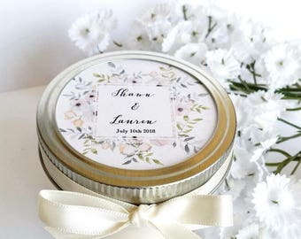 Wedding Favor Candles | 50 Mason Jar Favors | Rustic Favors | Wedding Candle Favor | Custom Wedding Favor | Baby Shower Favor | Custom Favor