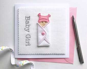 Baby Girl Card - Baby Boy Card - New Baby Girl Card - New Baby Boy Card - Cute Newborn Card - Cute Baby Card - New Mum Card - Baby Cards