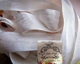 Rayon Seam Binding Ribbon Oatmeal Soft White